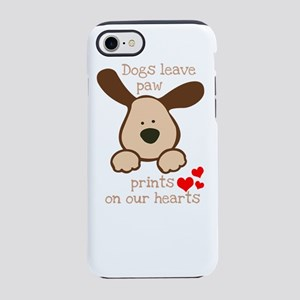 dogs leave paw prints on our h iPhone 7 Tough Case