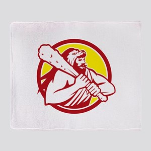 Hercules Lion Skin Wield Club Circle Retro Throw B