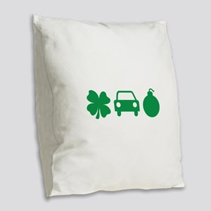 Irish Car Bomb Burlap Throw Pillow