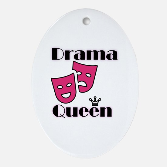 Cute Acting Oval Ornament