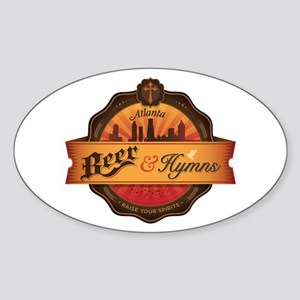 Beer and Hymns LARGE Sticker