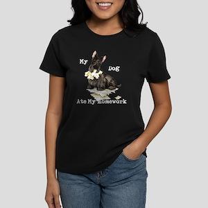 Scottie Ate Homework Women's Dark T-Shirt