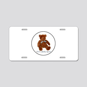 Teddy Bear, Teddie Watercol Aluminum License Plate