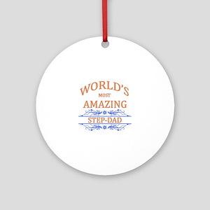 Step-dad Round Ornament
