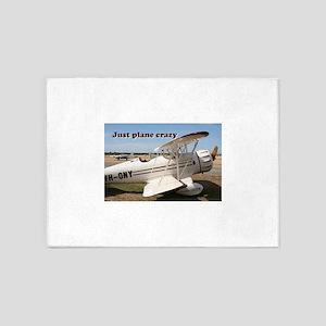 Just plane crazy: Waco aircraft 5'x7'Area Rug