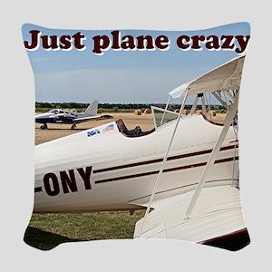 Just plane crazy: Waco aircraf Woven Throw Pillow