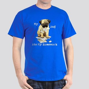 Pug Ate Homework Dark T-Shirt