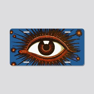 Eye Eyeball Aluminum License Plate