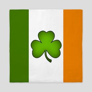 Irish Flag Shamrock Queen Duvet
