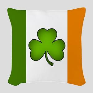 Irish Flag Shamrock Woven Throw Pillow