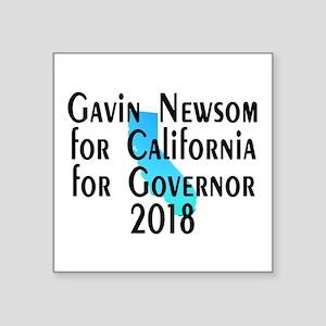 """Gavin Newsom, Governor - Square Sticker 3"""" x 3"""""""