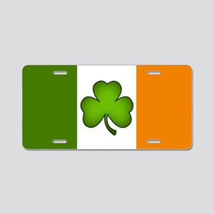 Irish Flag Shamrock Aluminum License Plate