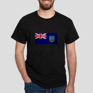 Montserrat - Flag Dark T-Shirt