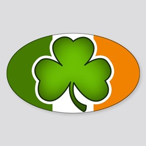 Irish Flag Shamrock Sticker