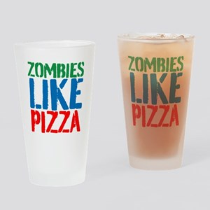 Zombies Like Pizza Drinking Glass