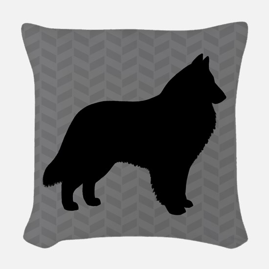 Belgian Sheepdog Woven Throw Pillow