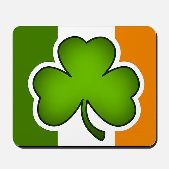 Irish Flag Shamrock Mousepad