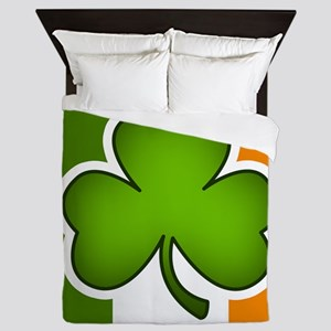 Irish Flag Shamrock Queen Duvet