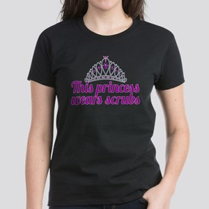 Princess Wears Scrubs Women's Dark T-Shirt