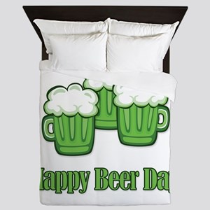 Happy Green Beer Day! Queen Duvet
