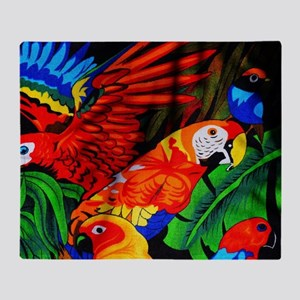 Parrot Paradise Throw Blanket