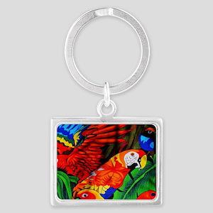 Parrot Paradise Landscape Keychain