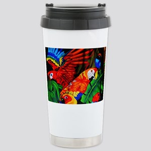 Parrot Paradise Stainless Steel Travel Mug