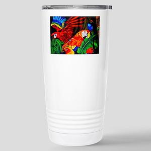 Parrot Paradise Stainless Steel Travel Mug