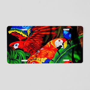Parrot Paradise Aluminum License Plate