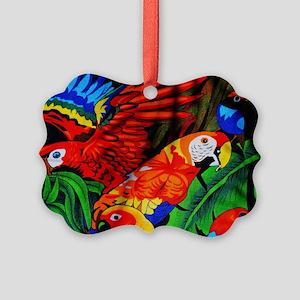 Parrot Paradise Picture Ornament