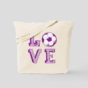 Girly Love Soccer Tote Bag