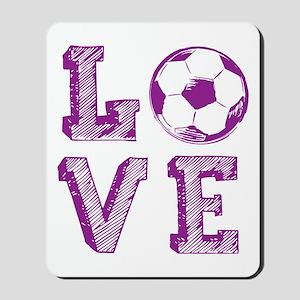 Girly Love Soccer Mousepad