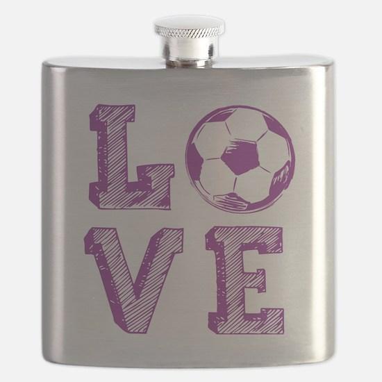 Girly Love Soccer Flask