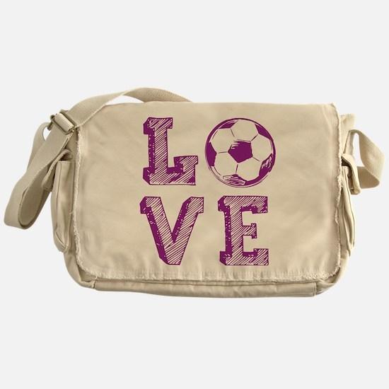 Girly Love Soccer Messenger Bag