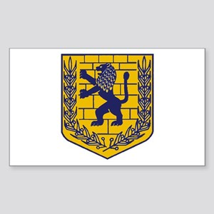 Lion of Judah Gold Rectangle Sticker