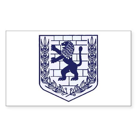 Lion of Judah White Rectangle Sticker
