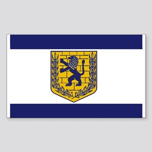 Jerusalem Municipal Flag Rectangle Sticker