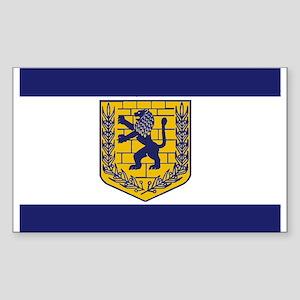 Jerusalem Municipal Flag Rectangle Sticker