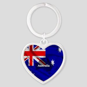 Flag of Australia Heart Keychain