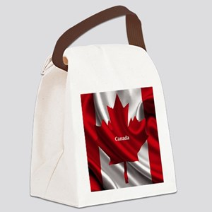 Canadian Flag Canvas Lunch Bag