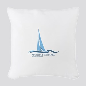 Martha's Vineyard. Woven Throw Pillow