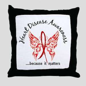 Heart Disease Butterfly 6.1 Throw Pillow