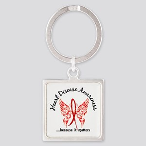 Heart Disease Butterfly 6.1 Square Keychain