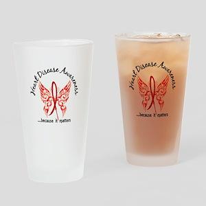 Heart Disease Butterfly 6.1 Drinking Glass