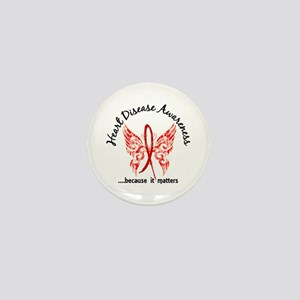 Heart Disease Butterfly 6.1 Mini Button
