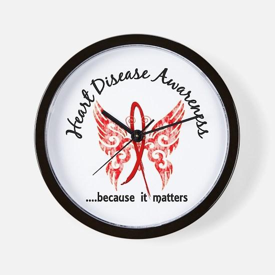 Heart Disease Butterfly 6.1 Wall Clock