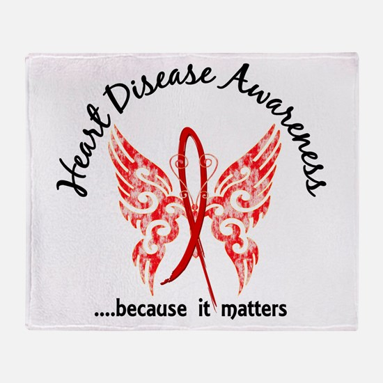 Heart Disease Butterfly 6.1 Throw Blanket