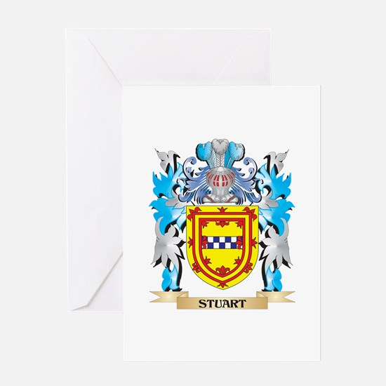 Stuart Coat of Arms - Family Crest Greeting Cards