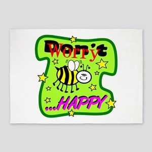 Bee Happy 5'x7'Area Rug
