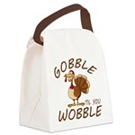 Gobble Til You Wobble Canvas Lunch Bag